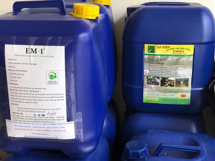Giá chế phẩm sinh học EM. Mua bán chế phẩm EM ở Hà Nội, TPHCM